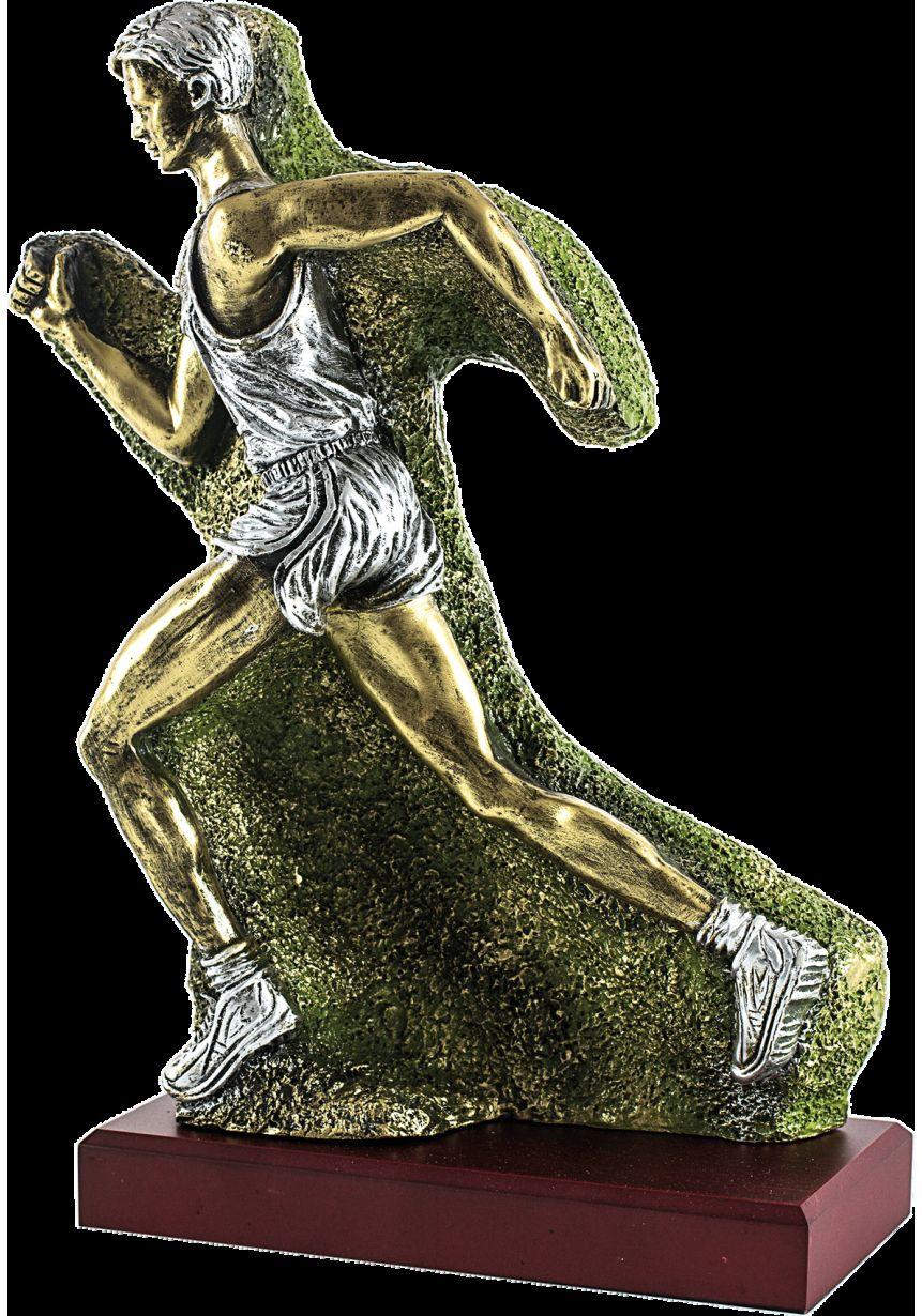 Trofeo de Cross corredor tallado en resina