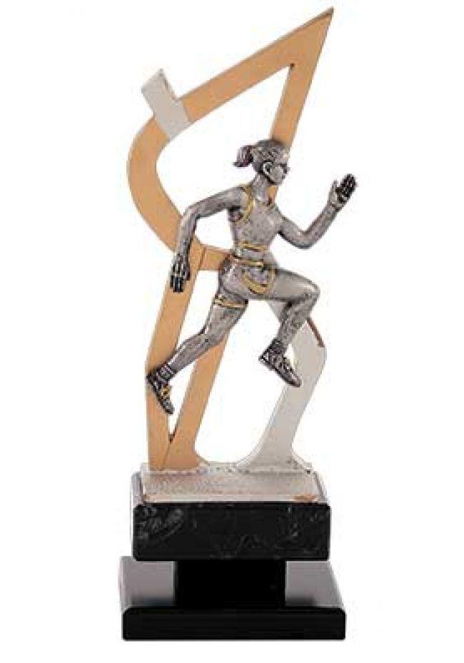 Trofeo figura de cross femenino de diseño