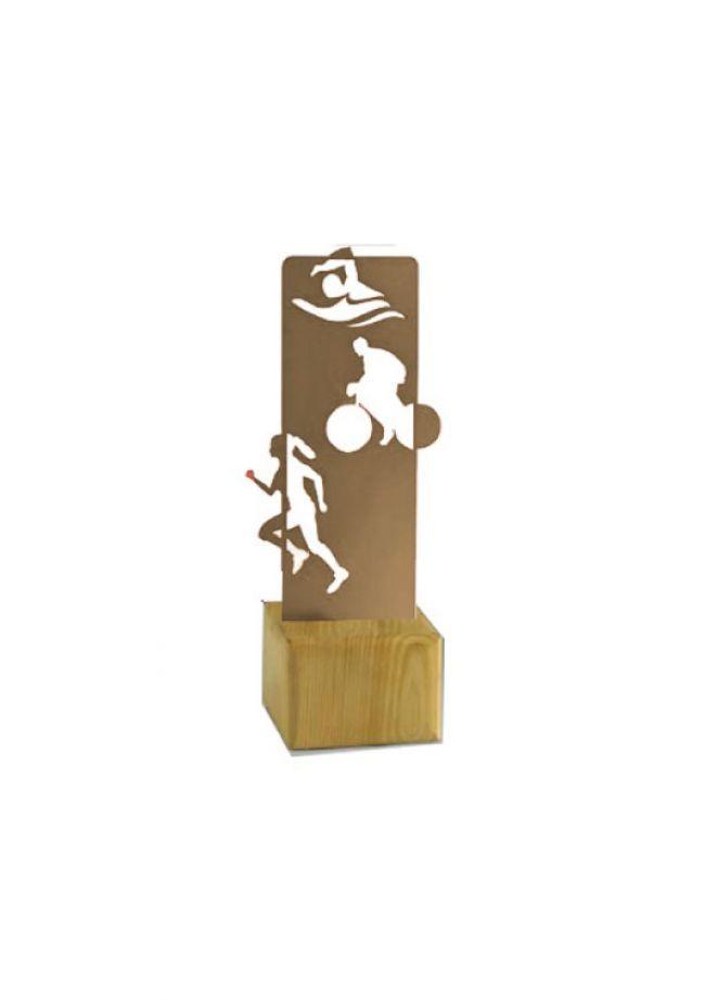 Trofeo de Triatlón MADERA/METAL