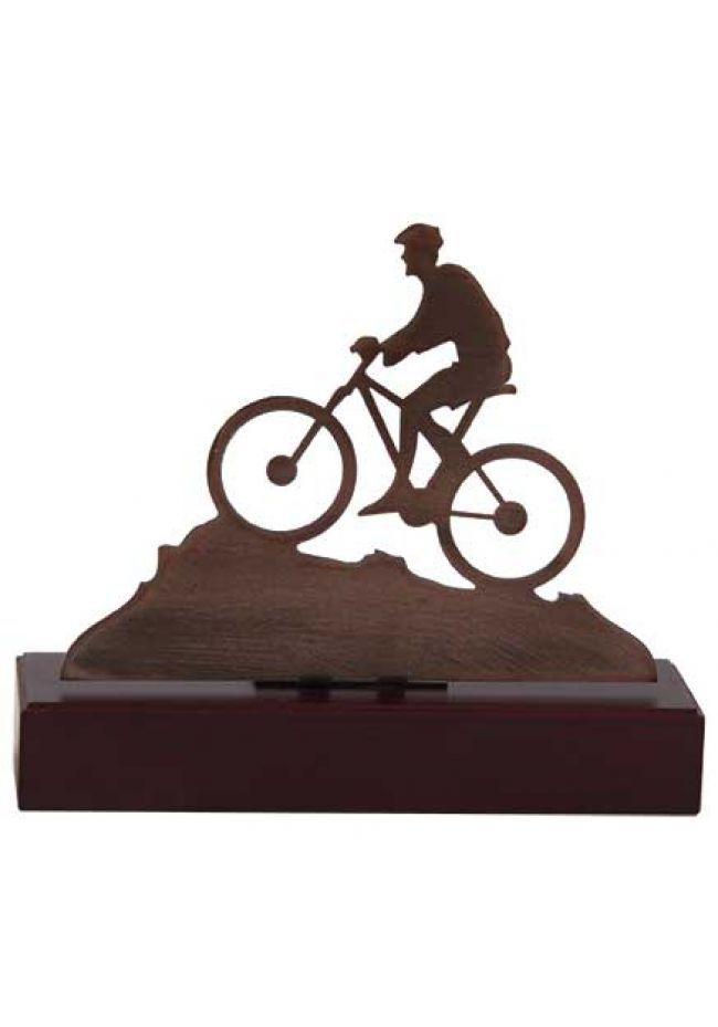 Trofeo figura mountainbike metal