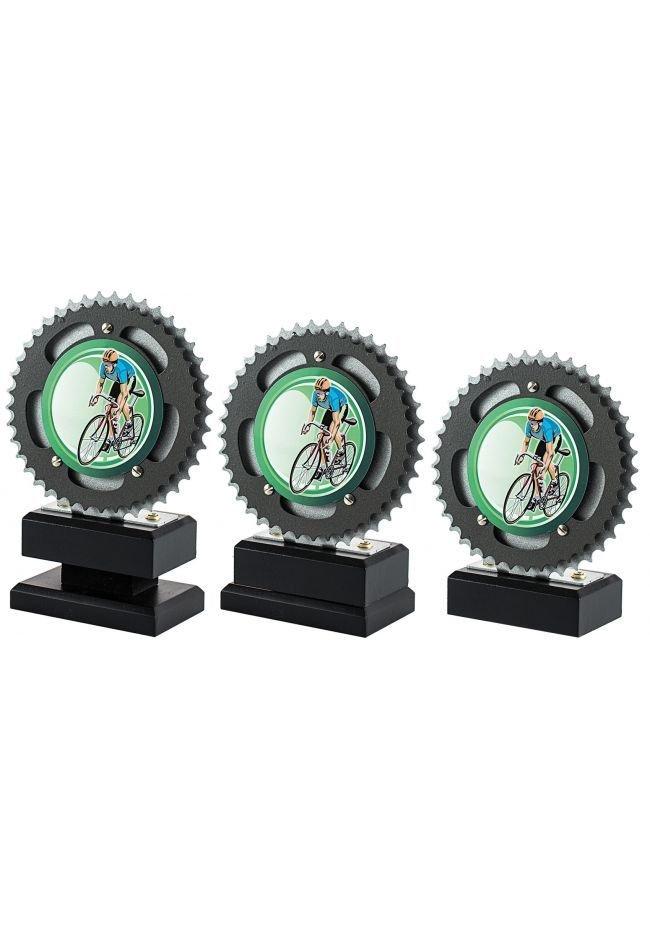 Trofeo con disco de bicicleta