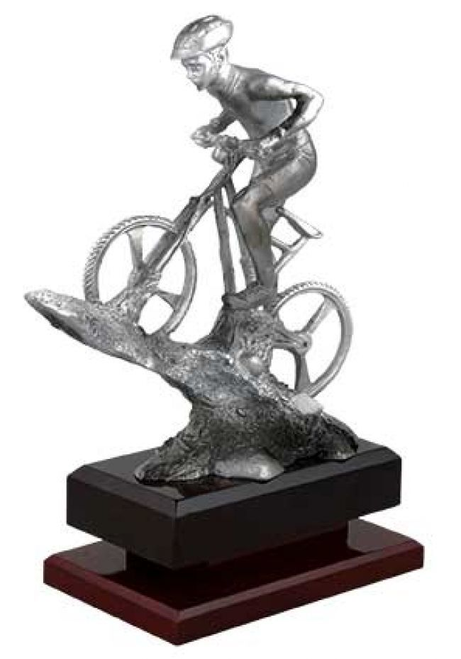 Trofeo de mountainbike de metracrilato