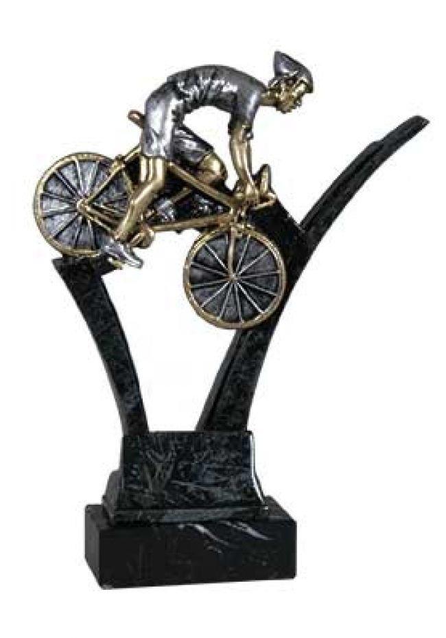 Ciclismo de carretera con mármol negro