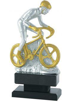 Trofeo de Ciclismo plata borde oro
