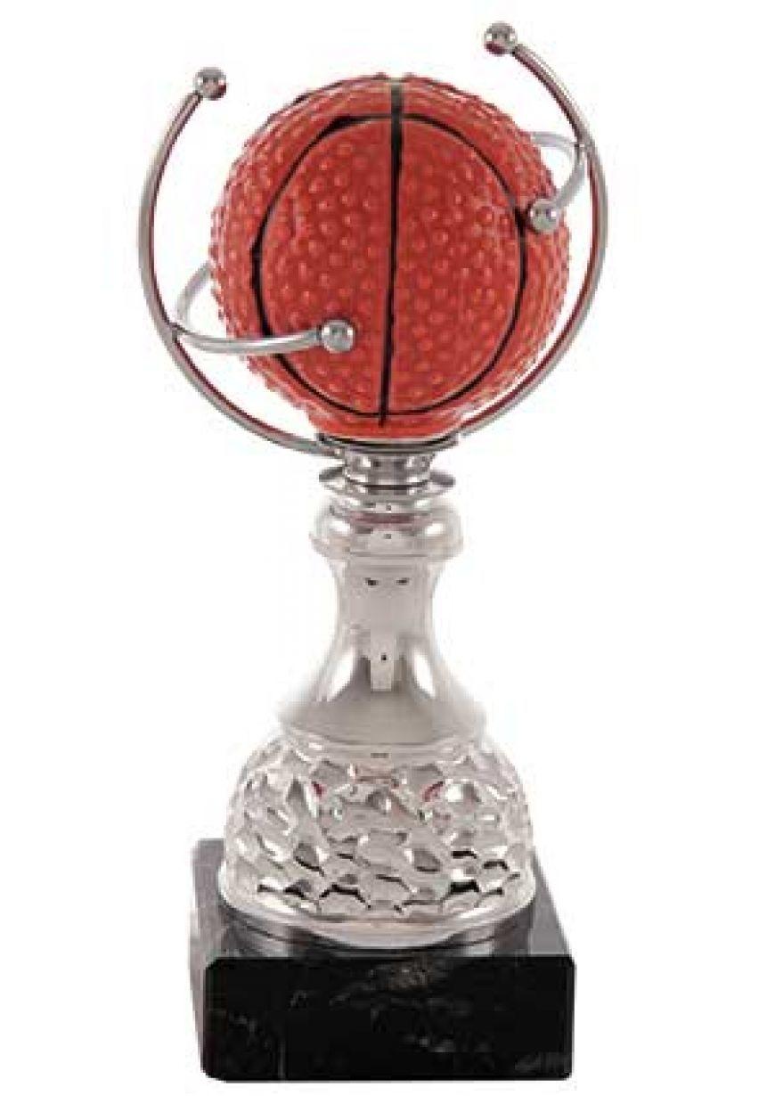 Trofeo Basket MVP balón con aro