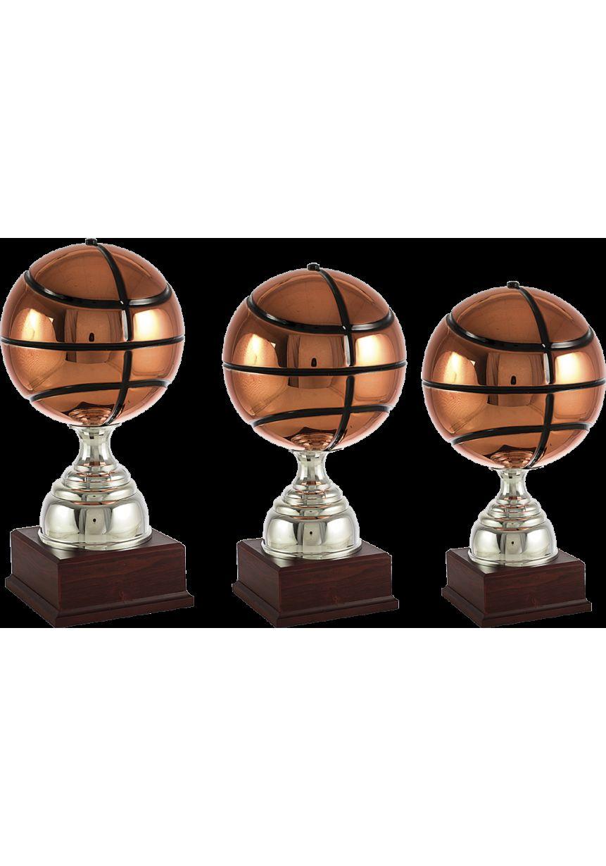 Trofeo balón de baloncesto en cobre