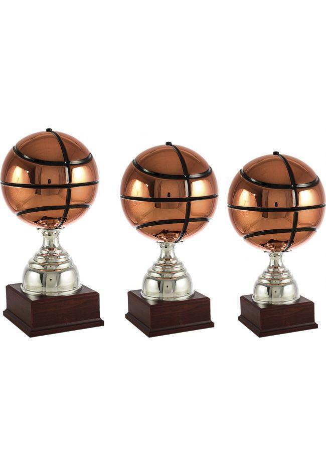 Basketball trophy copper