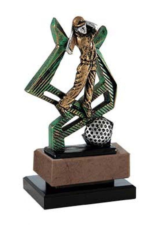 Trofeo de golf diseño cruzado
