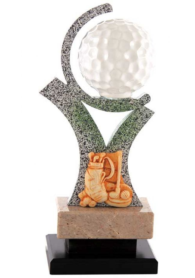 Trofeo Pelota de golf , semicirculo