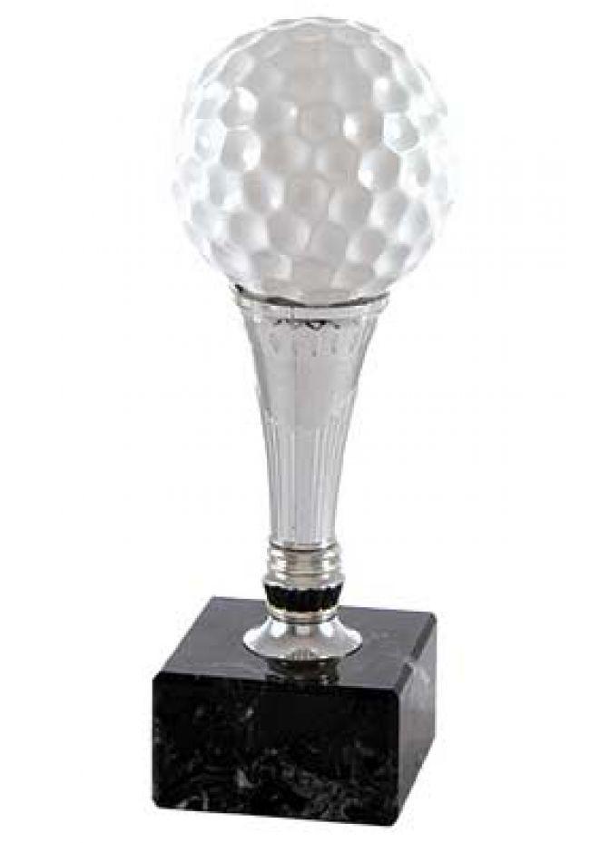 Trofeo Golf pelota con pie de plateado