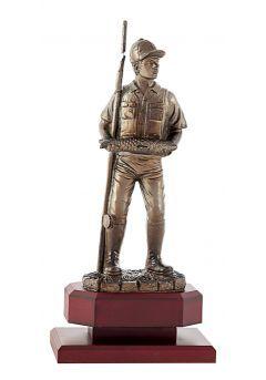 Trofeo de Pesca con pescador con caña y captura Thumb