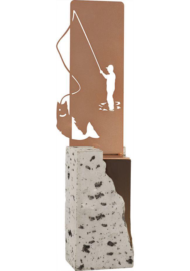 Figura Pesca en metal