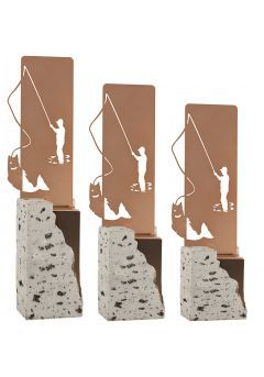 Figura Pesca en metal Thumb