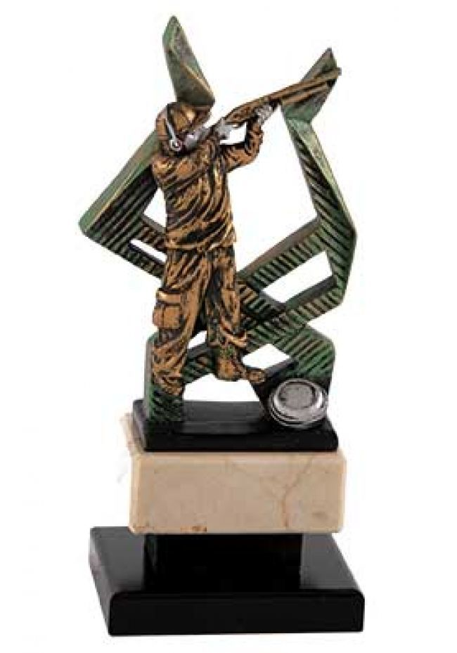 Trofeo deporte de tiro con figura