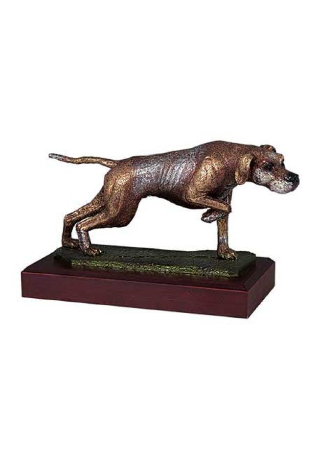 Trofeo de caza con perro