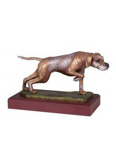Trofeo de caza con perro-1