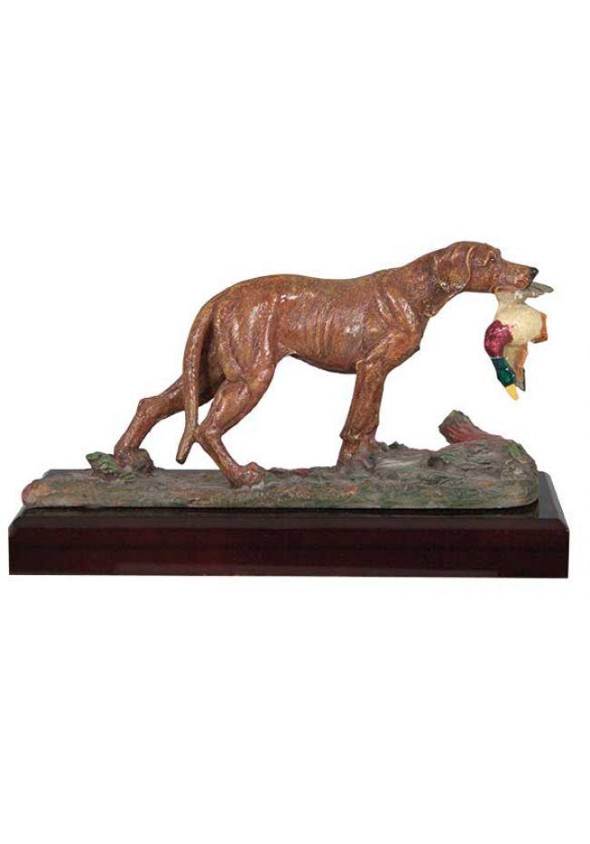 Figura de perro con presa decoración