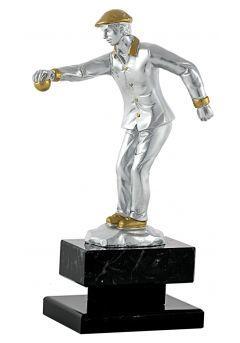 Trofeo de petanca figura hombre