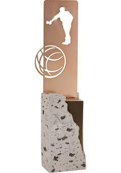 Trofeo de Petanca labrado en metal soporte piedra Thumb