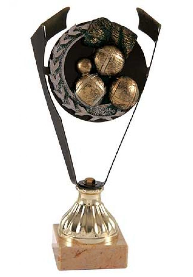 Trofeo de Petanca con corte laurel