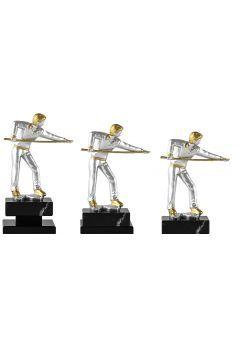 Trofeo de billar con figura jugador plateado Thumb