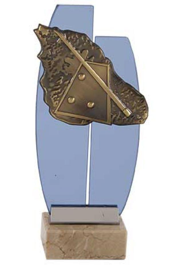 Figura cristal tablero billar