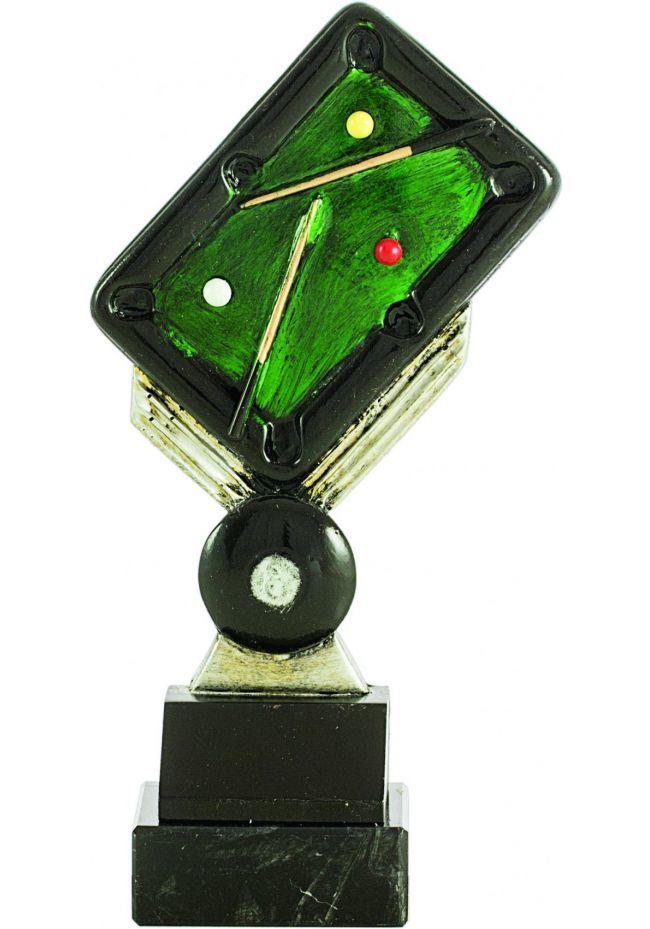 Trofeo de mesa billar resina