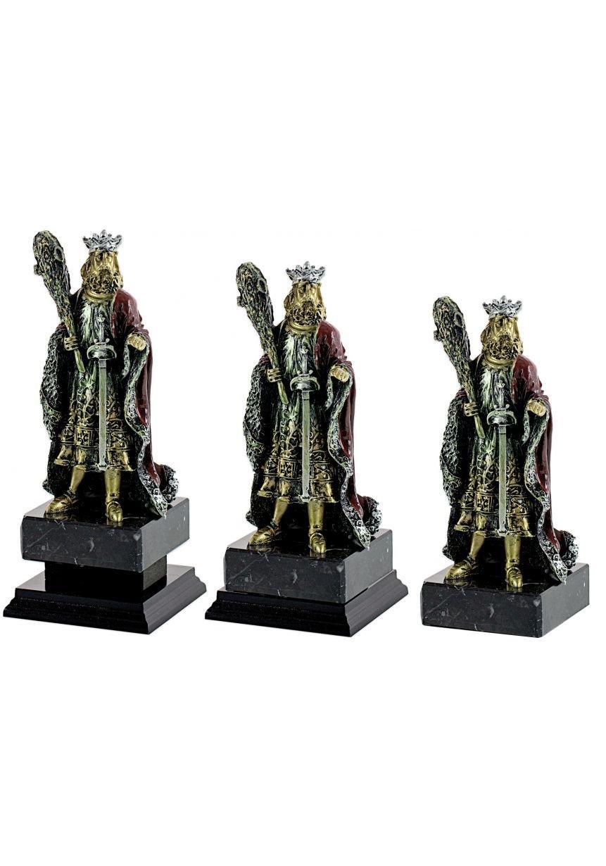 Trofeo figura Cartas con el Rey de bastos