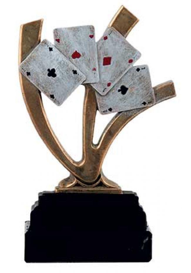 Trofeo de cartas con ases