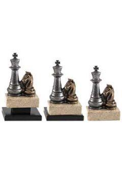 Trofeo de Ajedrez con figuras del rey y caballo Thumb