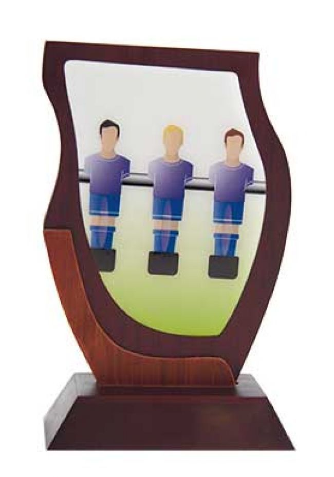 Imagen de fútbolín en cristal