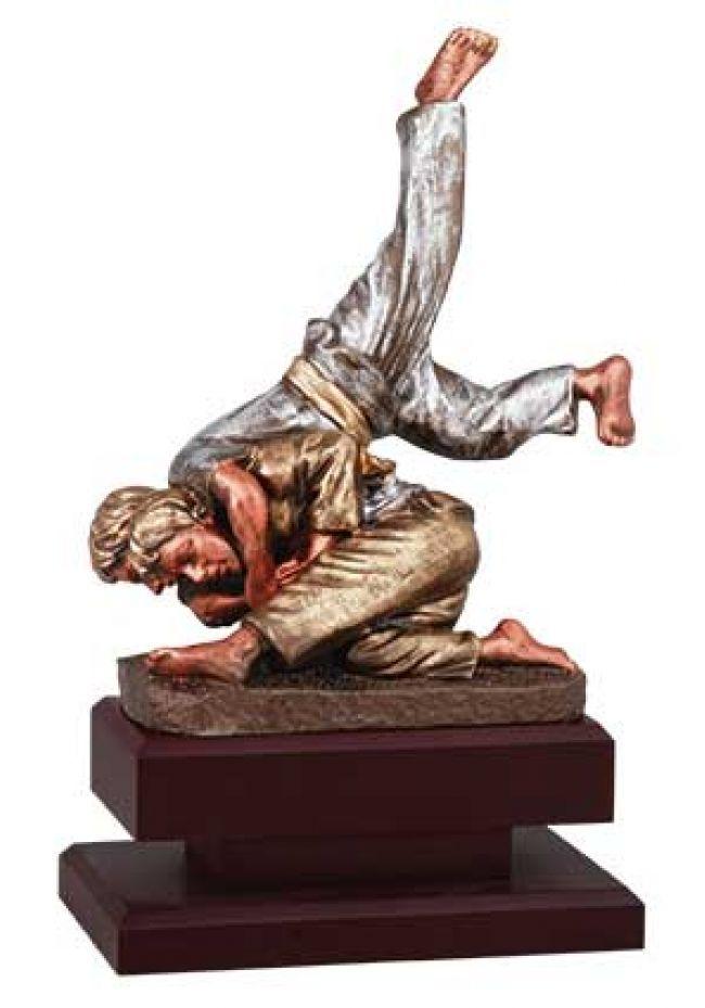 Trofeo de Judo con figura