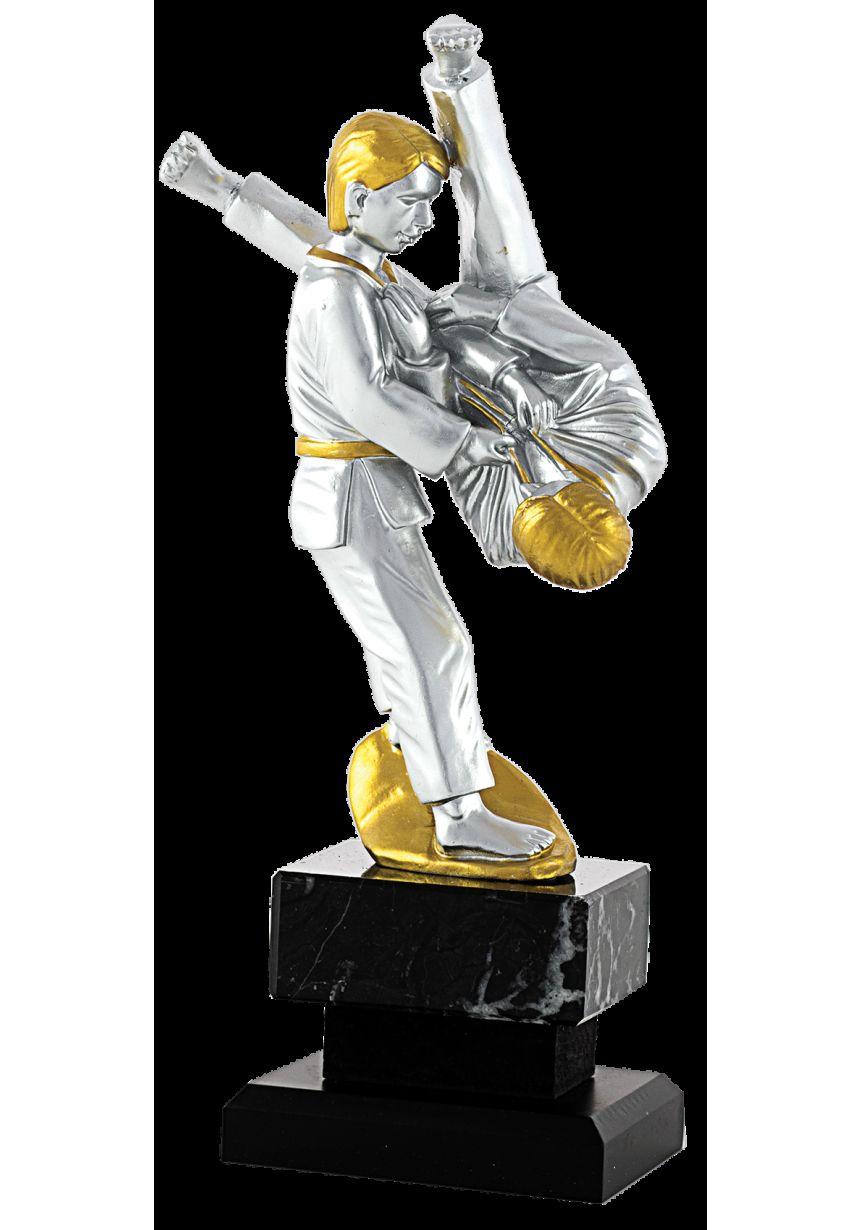 Trofeo de Judo con figura plata y oro