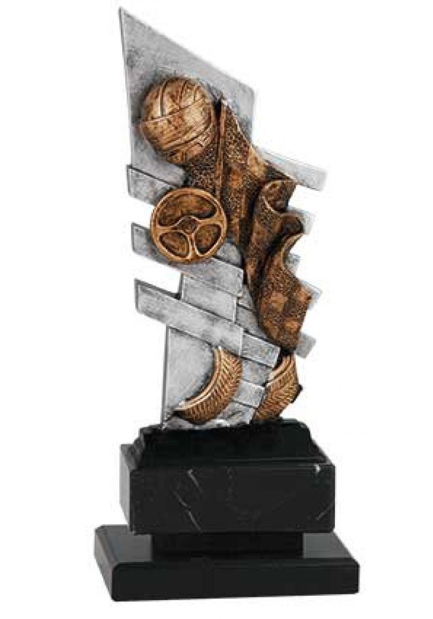 Trofeo automovilismo con figura decorativa