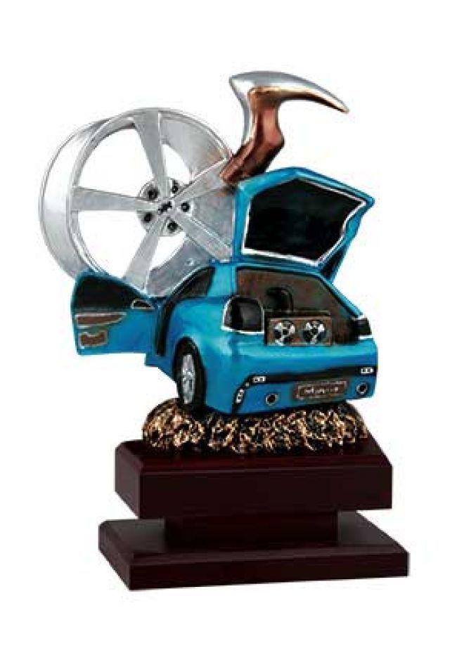 Trofeo de tunning con figura decorativa