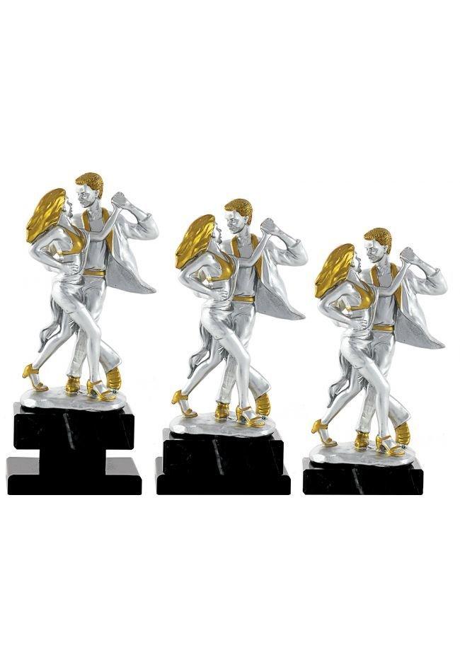 Trofeo figura con la silueta de 2 bailarines