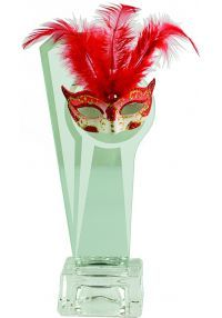 Trofeo Cristal Máscara de Cerámica-1