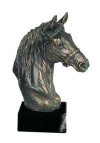 Trofeo figura cabeza caballo resina