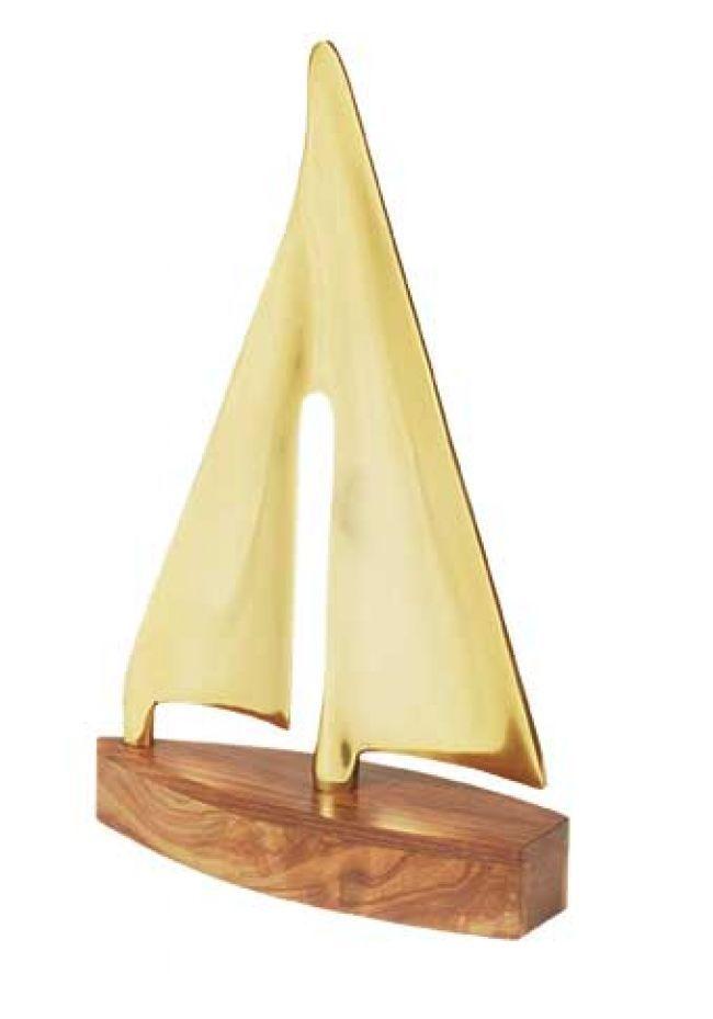 Trofeo barca de vela oro