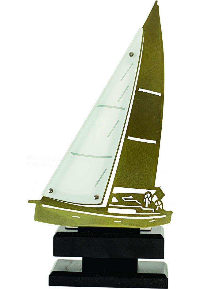 Trofeo de vela metal y madera