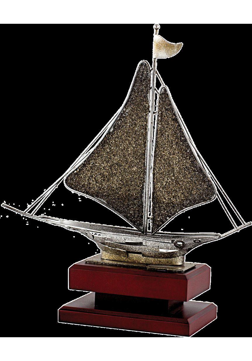 Trofeo de Vela con figura de barco en forja