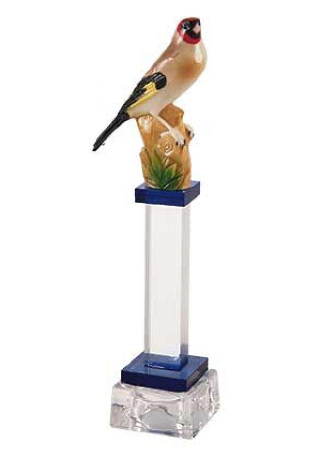 Trofeo de Pajaros con Pájaro columna de cristal