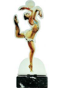 Trofeo de Gimnasia con figura metal
