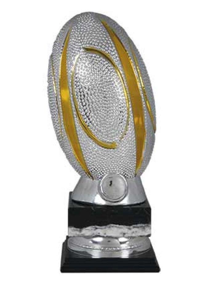 Trofeo con balón de rugby