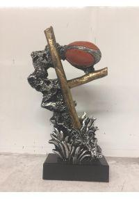Trofeo de rugby pedestal balón