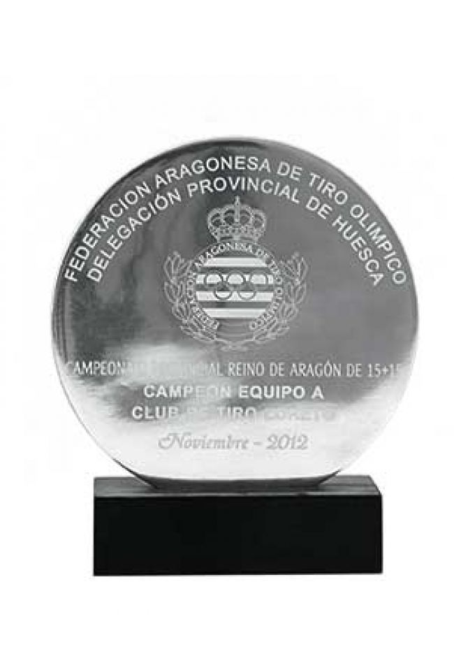 Trofeo de metal circular