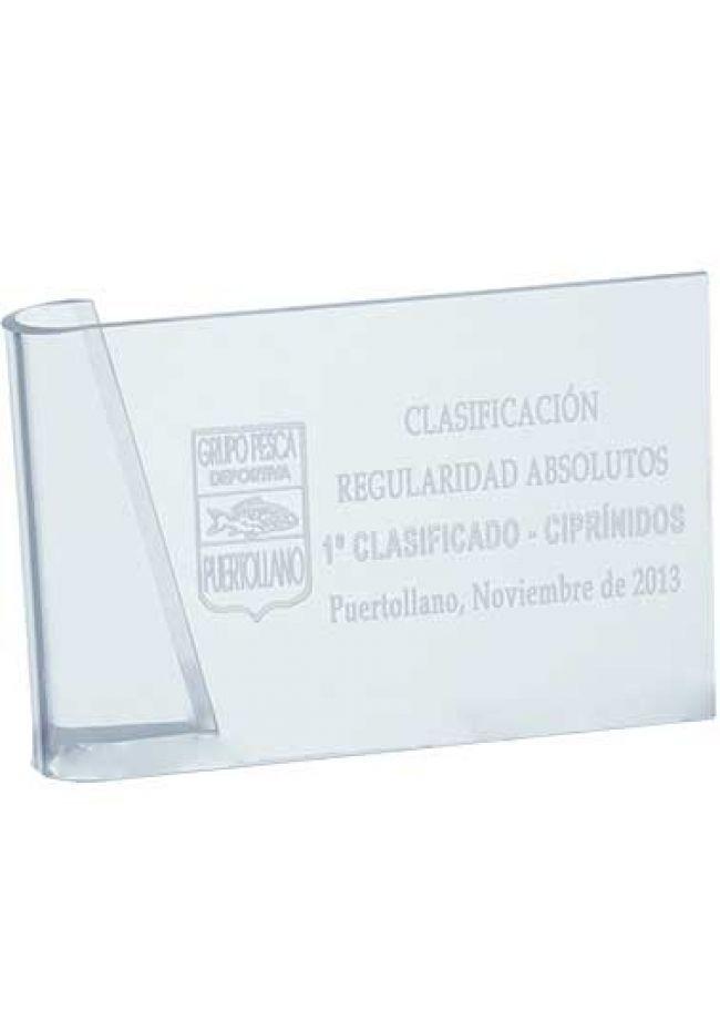 Trofeo de metacrilato pergamino