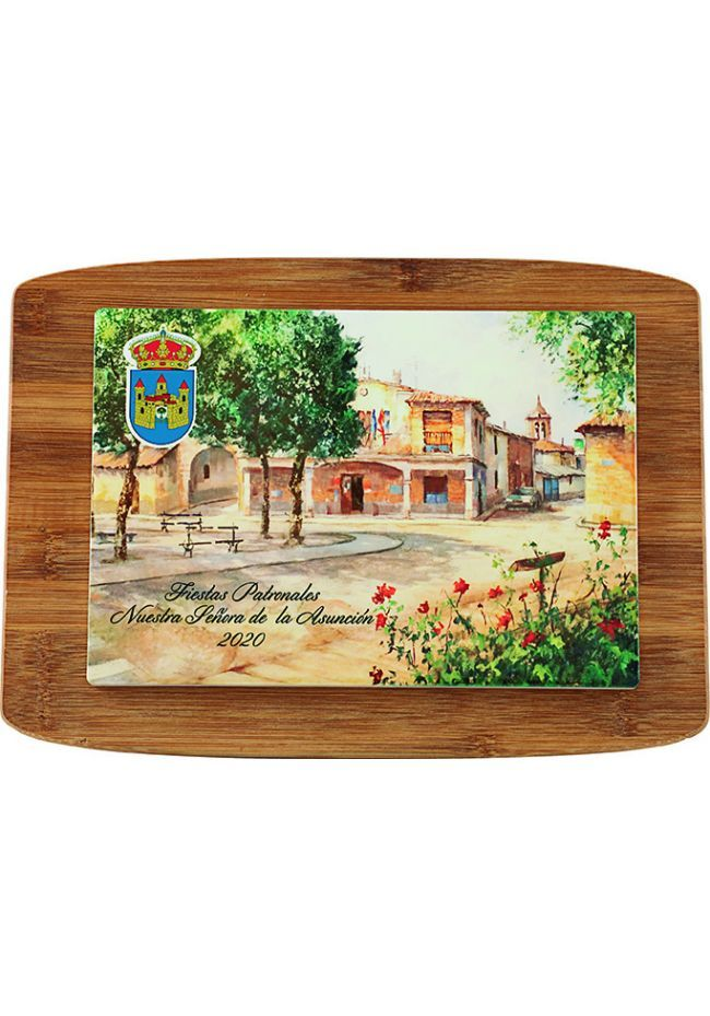 Wooden trophy rectangular wooden box colorful sublimation