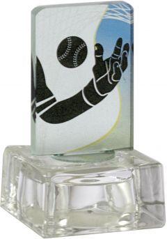 Trofeo de cristal  aplique color deportivo base cristal-2