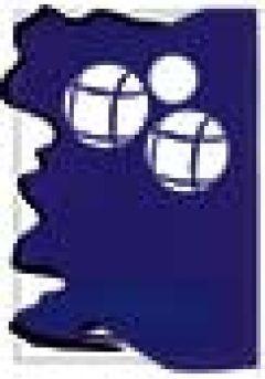 Trofeo de cristal forma rectangular impreso fondo azul aplique cristal Thumb